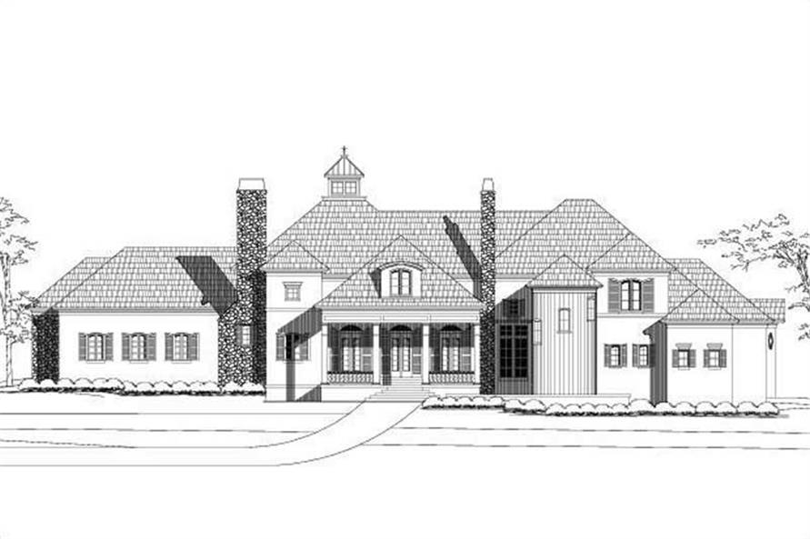 5-Bedroom, 4780 Sq Ft Country House Plan - 156-2205 - Front Exterior