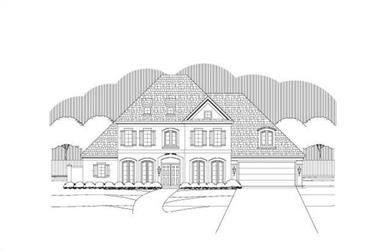 4-Bedroom, 4770 Sq Ft Luxury House Plan - 156-2206 - Front Exterior