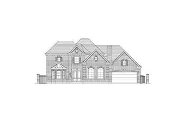 4-Bedroom, 4582 Sq Ft Luxury House Plan - 156-2207 - Front Exterior