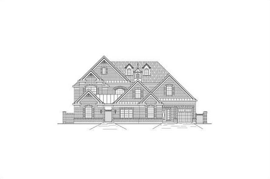 6-Bedroom, 5494 Sq Ft Luxury House Plan - 156-2208 - Front Exterior