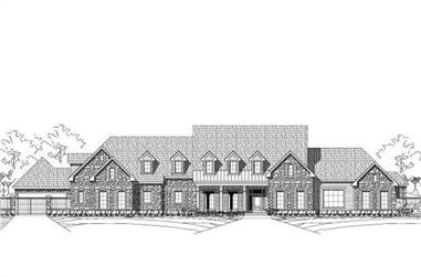 5-Bedroom, 5509 Sq Ft Country Home Plan - 156-2209 - Main Exterior