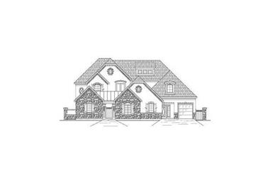 5-Bedroom, 5494 Sq Ft Country House Plan - 156-2210 - Front Exterior
