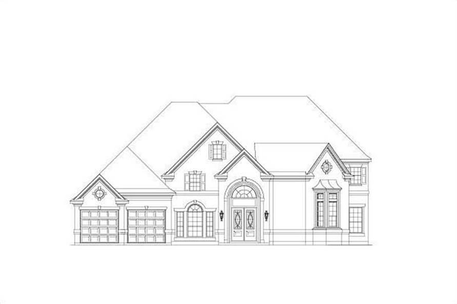 4-Bedroom, 4275 Sq Ft Luxury Home Plan - 156-2211 - Main Exterior
