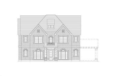 5-Bedroom, 3745 Sq Ft Luxury Home Plan - 156-2212 - Main Exterior