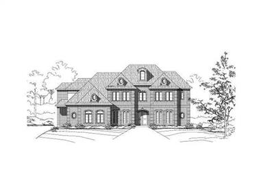 5-Bedroom, 6533 Sq Ft Luxury House Plan - 156-2216 - Front Exterior