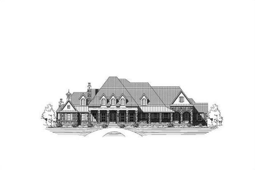 5-Bedroom, 5690 Sq Ft Country Home Plan - 156-2217 - Main Exterior
