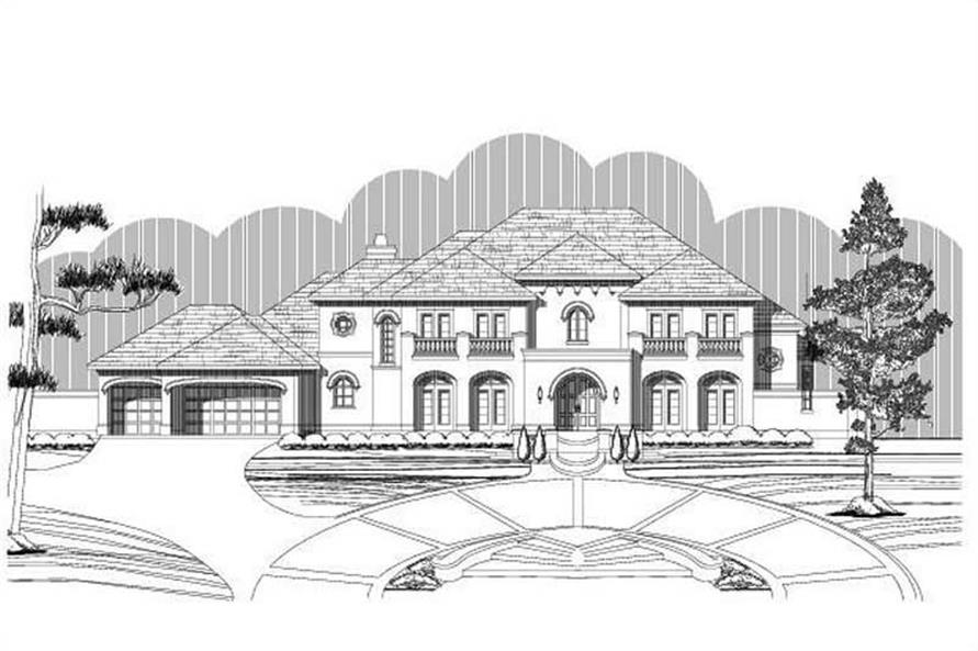 5-Bedroom, 5749 Sq Ft Luxury House Plan - 156-2218 - Front Exterior