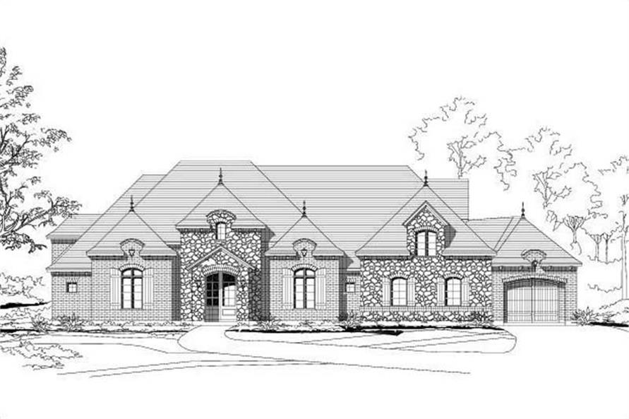 3-Bedroom, 3414 Sq Ft Country Home Plan - 156-2219 - Main Exterior