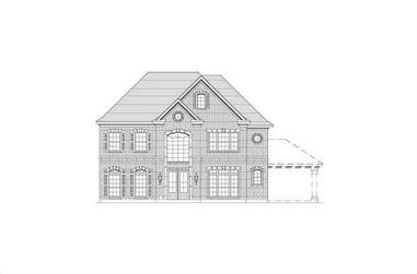 5-Bedroom, 3907 Sq Ft Luxury Home Plan - 156-2220 - Main Exterior