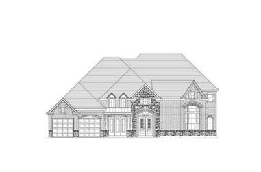 4-Bedroom, 4275 Sq Ft Country Home Plan - 156-2223 - Main Exterior