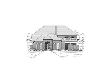 3-Bedroom, 3887 Sq Ft Luxury House Plan - 156-2224 - Front Exterior