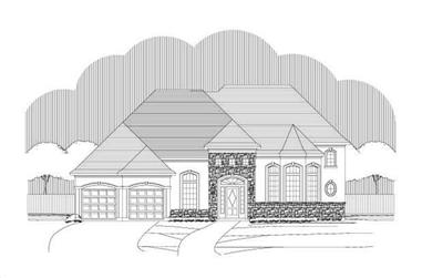 4-Bedroom, 4275 Sq Ft Tuscan House Plan - 156-2225 - Front Exterior