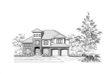 4-Bedroom, 4144 Sq Ft Country House Plan - 156-2227 - Front Exterior