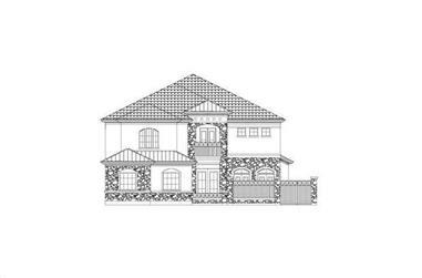 3-Bedroom, 3750 Sq Ft Home Plan - 156-2228 - Main Exterior