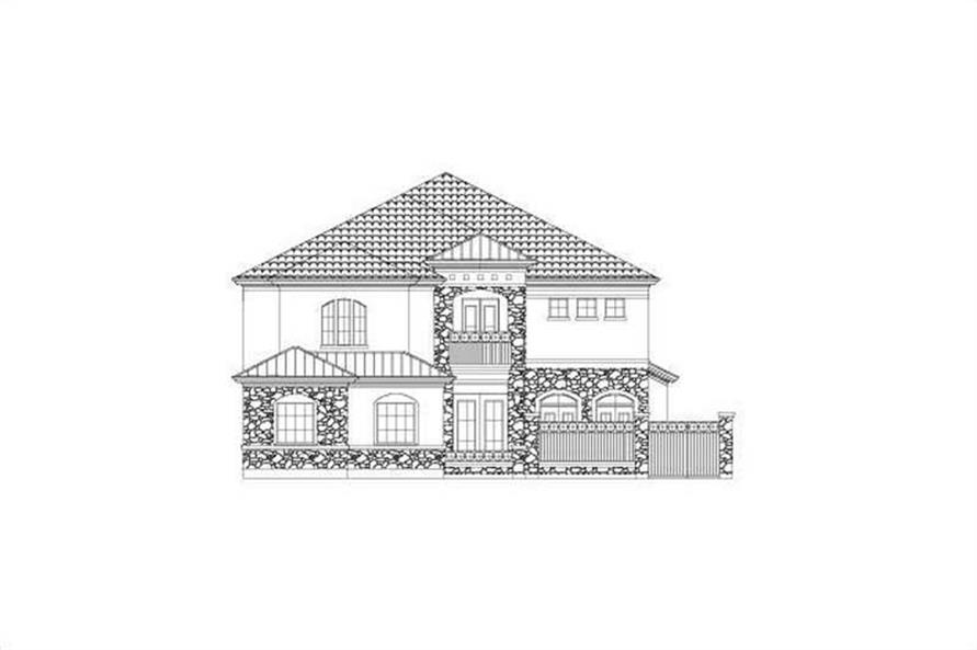 3-Bedroom, 3750 Sq Ft Home Plan - 156-2228 - Main Exterior