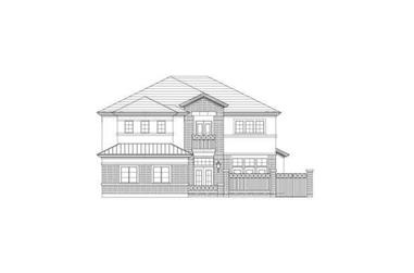 3-Bedroom, 3436 Sq Ft Luxury Home Plan - 156-2230 - Main Exterior