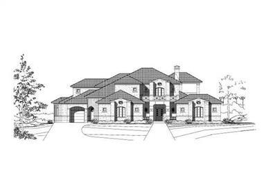 4-Bedroom, 5378 Sq Ft Mediterranean House Plan - 156-2231 - Front Exterior