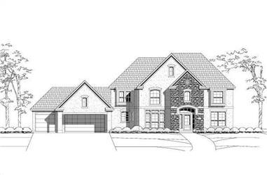 4-Bedroom, 3796 Sq Ft Luxury Home Plan - 156-2232 - Main Exterior