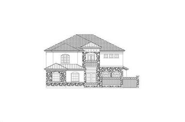 3-Bedroom, 3444 Sq Ft Spanish House Plan - 156-2234 - Front Exterior