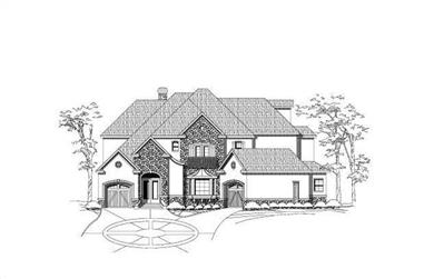 4-Bedroom, 6999 Sq Ft Tuscan Home Plan - 156-2236 - Main Exterior