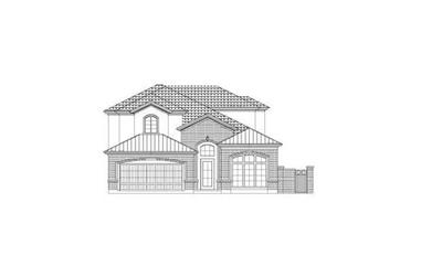 4-Bedroom, 3234 Sq Ft Traditional Home Plan - 156-2237 - Main Exterior