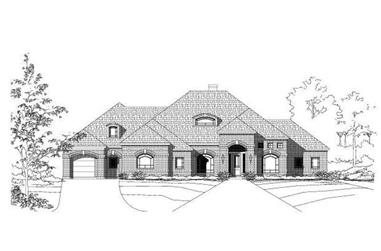 4-Bedroom, 3580 Sq Ft Luxury House Plan - 156-2239 - Front Exterior