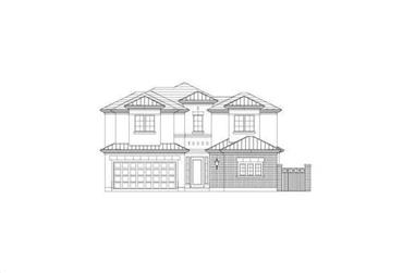 3-Bedroom, 2761 Sq Ft Traditional House Plan - 156-2240 - Front Exterior
