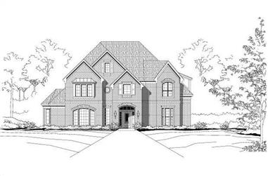 5-Bedroom, 4679 Sq Ft Luxury House Plan - 156-2241 - Front Exterior