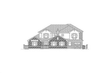 5-Bedroom, 5385 Sq Ft Country House Plan - 156-2242 - Front Exterior