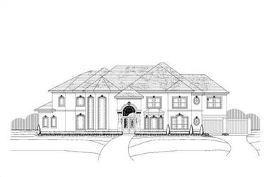 5-Bedroom, 5306 Sq Ft Luxury House Plan - 156-2243 - Front Exterior
