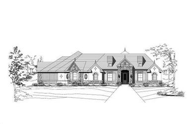 4-Bedroom, 3787 Sq Ft Country Home Plan - 156-2245 - Main Exterior