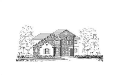 3-Bedroom, 3400 Sq Ft Country Home Plan - 156-2247 - Main Exterior