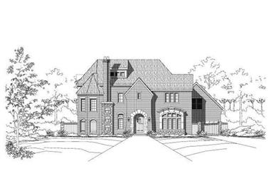 3-Bedroom, 5197 Sq Ft French House Plan - 156-2248 - Front Exterior