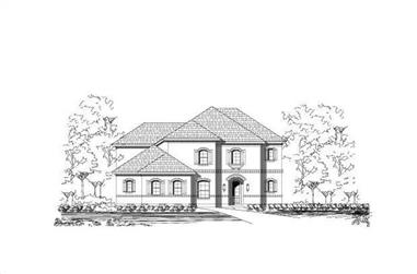 3-Bedroom, 3400 Sq Ft Luxury Home Plan - 156-2249 - Main Exterior