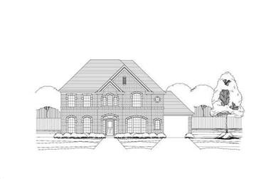 4-Bedroom, 3734 Sq Ft Luxury House Plan - 156-2250 - Front Exterior