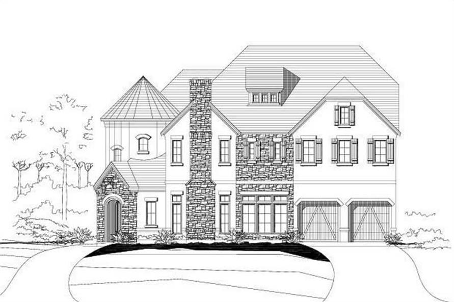 4-Bedroom, 4881 Sq Ft Country Home Plan - 156-2252 - Main Exterior