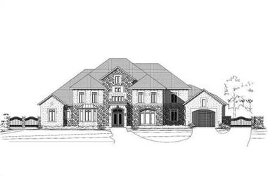4-Bedroom, 7507 Sq Ft Spanish House Plan - 156-2253 - Front Exterior
