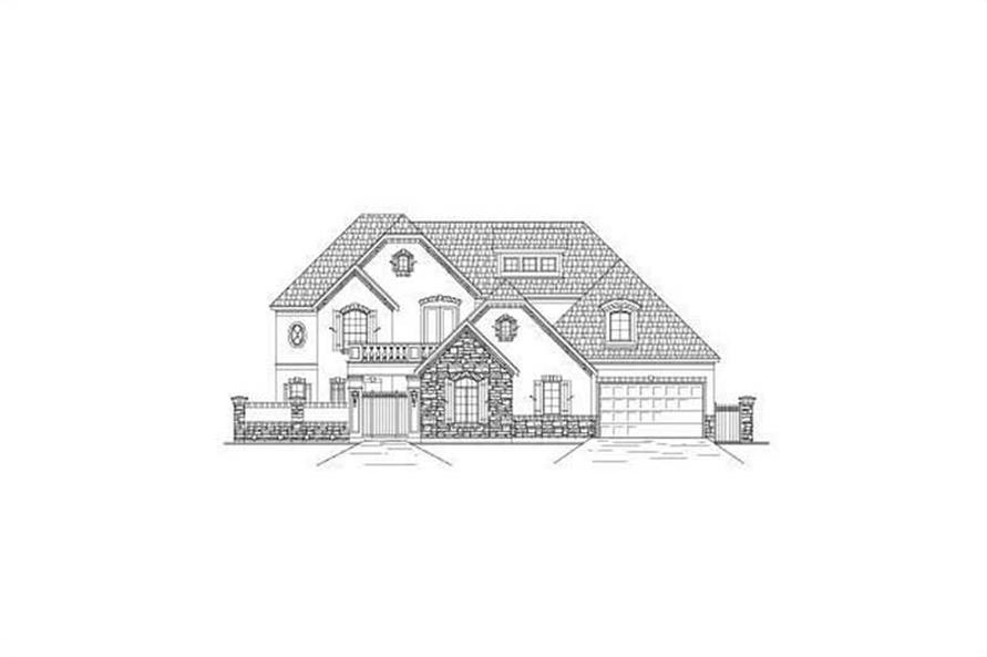 5-Bedroom, 5079 Sq Ft Country House Plan - 156-2254 - Front Exterior