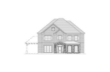 5-Bedroom, 4339 Sq Ft Country House Plan - 156-2256 - Front Exterior