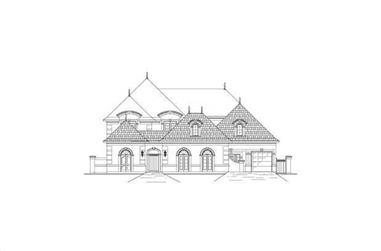 6-Bedroom, 5494 Sq Ft French Home Plan - 156-2257 - Main Exterior