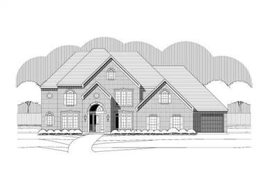 5-Bedroom, 5488 Sq Ft Luxury House Plan - 156-2258 - Front Exterior