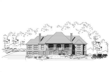 3-Bedroom, 3619 Sq Ft Luxury Home Plan - 156-2259 - Main Exterior