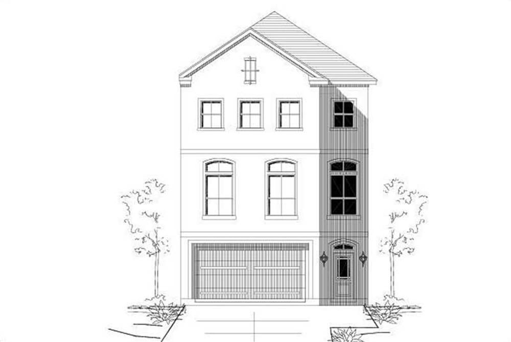 Front elevation of Contemporary home (ThePlanCollection: House Plan #156-2260)