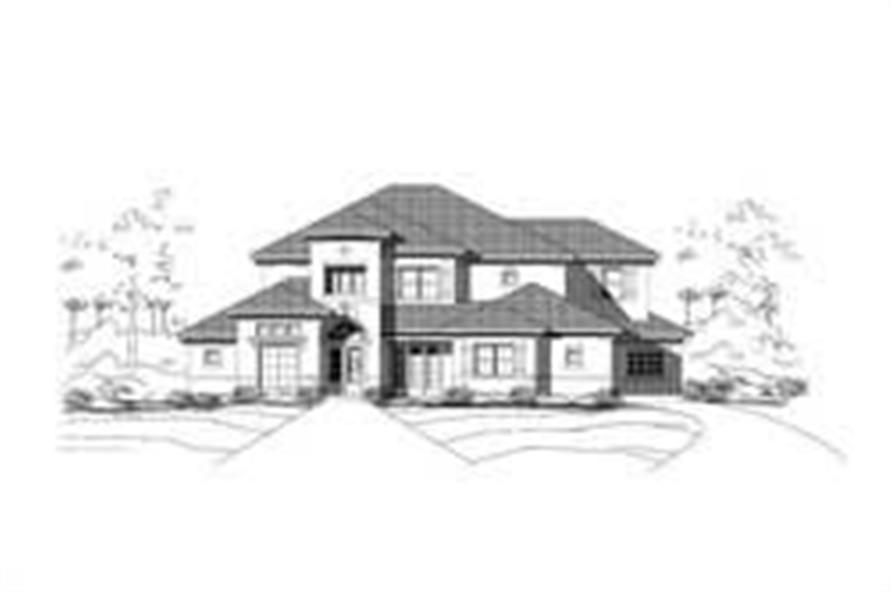 4-Bedroom, 5450 Sq Ft Luxury House Plan - 156-2261 - Front Exterior