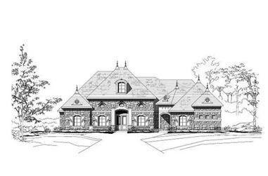 3-Bedroom, 4632 Sq Ft French House Plan - 156-2262 - Front Exterior