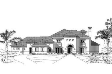 5-Bedroom, 6508 Sq Ft Mediterranean House Plan - 156-2263 - Front Exterior