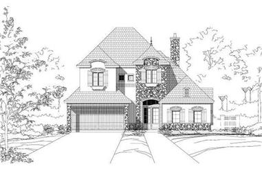 3-Bedroom, 3436 Sq Ft Country Home Plan - 156-2265 - Main Exterior