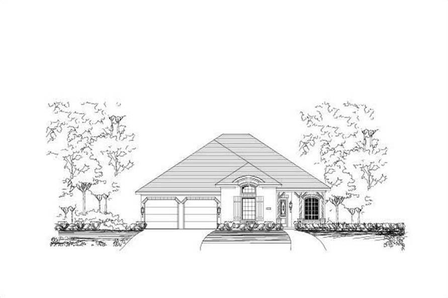 3-Bedroom, 2549 Sq Ft Country Home Plan - 156-2268 - Main Exterior
