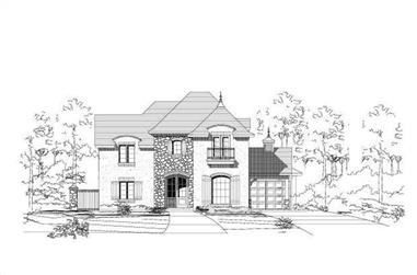4-Bedroom, 4543 Sq Ft French Home Plan - 156-2269 - Main Exterior
