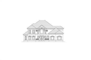4-Bedroom, 4380 Sq Ft Luxury Home Plan - 156-2270 - Main Exterior